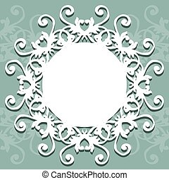 picture frame or round vent with ornament