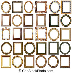 Picture frame - Picture gold frames with a decorative ...