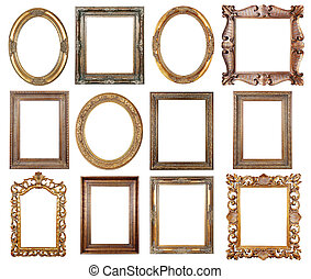 Picture frame - Picture gold frames with a decorative...