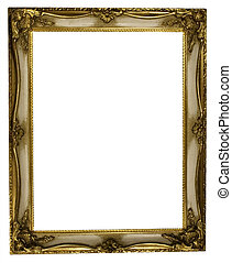 Picture Frame Retro - Gold plated empty vintage picture...