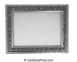 picture frame - silver 02 - a silver picture frame shot...
