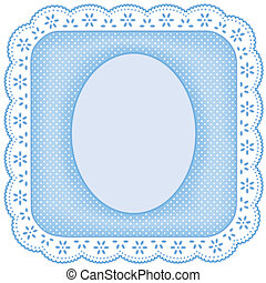 Picture Frame, White Eyelet Lace