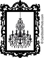 picture frame with chandelier - antique picture frame with...