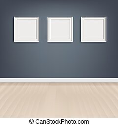 Picture Frame With Grey Background