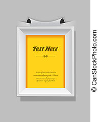 Picture frame with place for your own text.