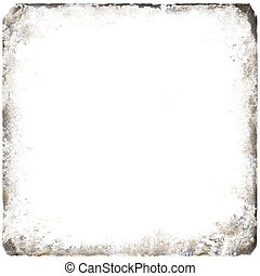 picture frame with rustical scratched structural pattern