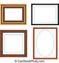 Picture Frames - A variety of different colored picture...