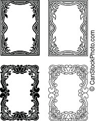picture frames - black and white and outlined picture frames...
