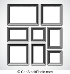 Picture Frames Collage - Collafe of black picture frames or...