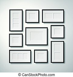 picture frames collection - Realistic blank picture frames...