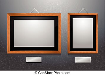 Picture frames horizontal and vertical vector illustration