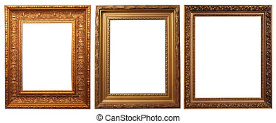 picture frames isolated on a white