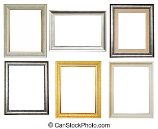 Picture frames isolated on white background
