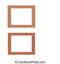 Picture frames made of wood.