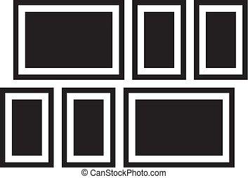 Picture frames. Photoframes mockup. - Picture frames....