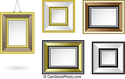 picture frames - a set of various decorative picture frames,...