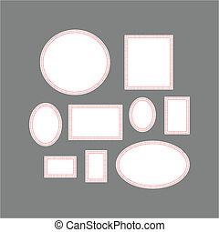 Picture frames - Vector illustration: Picture frames or art...