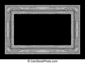 Picture g frame isolated on black background, clipping path