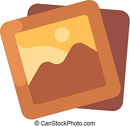 Picture gallery flat icon. Image album pictogram
