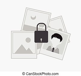 Picture Gallery Lock Vector Concept