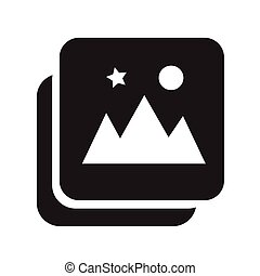 picture gallery Photo album icon illustration design