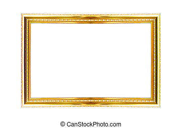 Picture gold frame with a decorativ