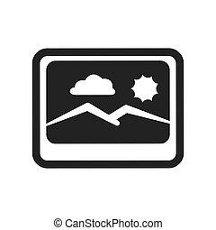 Picture icon. Image design. Vector graphic