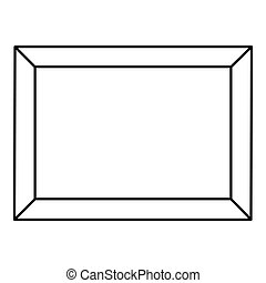 Picture icon, outline style