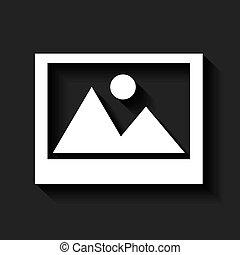 Picture icon. Photo design. Vector graphic