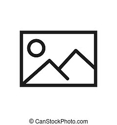 Picture icon vector. Simple picture sign in modern design style for web site and mobile app. EPS10