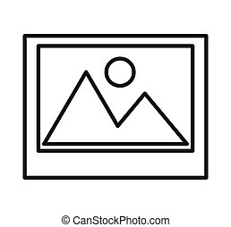 picture isolated icon design