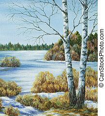 Picture, landscape, Russia