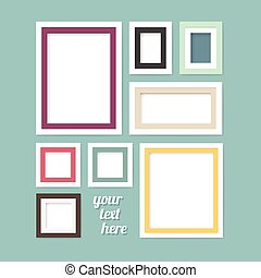 Picture modern frame design banners set vector