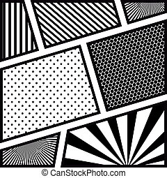picture monochrome abstract in pop art