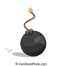 bomb - picture of a cartoon bomb isolated on white...