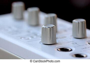 Close up music amplifier,external sound card