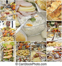 Collage of a variuos gourmet food