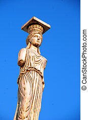 Greek ancient statue of the Caryatid
