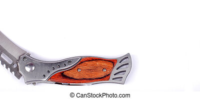 hunting knife on a white background