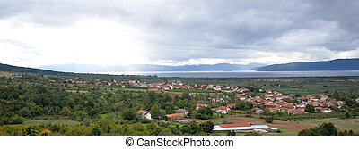 lake prespa, macedonia, panorama - picture of a lake prespa...