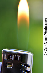 Lighter flame, macro