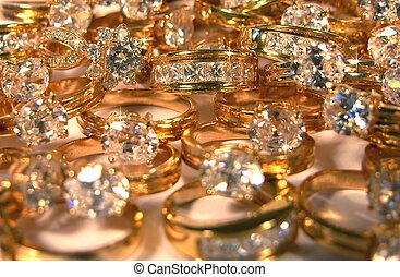 picture of a lot of rings with big diamonds