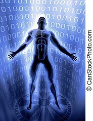 arise in virtual world - Picture of a man arise in virtual...