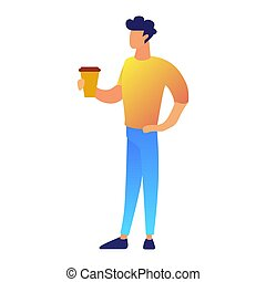 Picture of a man on a white background. Vector illustration.
