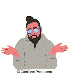 Picture of a man on a white background. Vector illustration