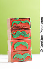 moustaches rubber stamp. Movember men's health awareness concept.