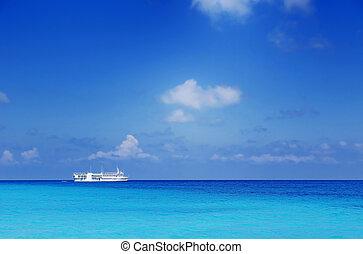 parking boat at sea