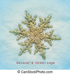 seasons greetings - picture of a snowflake-shaped christmas ...