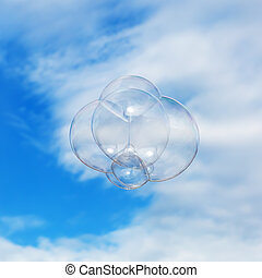 soap bubble flying in the air