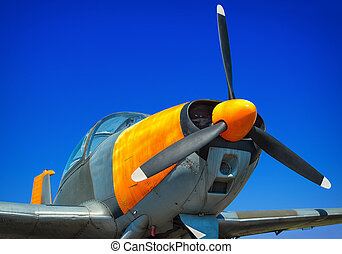 sports plane - picture of a sports plane against a blue sky